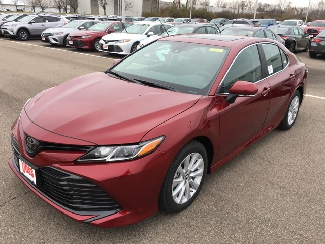 New 2019 Toyota Camry Red Le 4d Sedan In Beavercreek